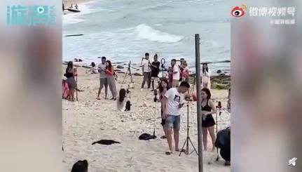 三亚海滩网红扎堆直播 这是什么现象?