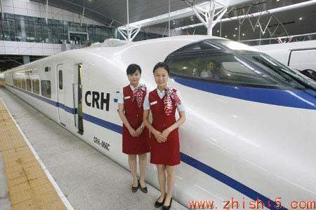 子弹火车在天津铁路车站