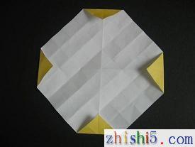 纸玫瑰的折法及步骤6