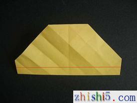 纸玫瑰的折法及步骤7