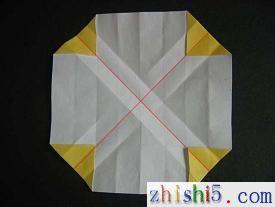 纸玫瑰的折法及步骤8