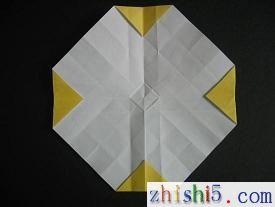 纸玫瑰的折法及步骤9
