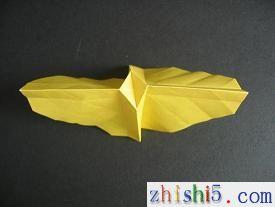 纸玫瑰的折法及步骤11